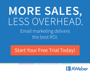 Aweber Drive new sales and increase repeat business