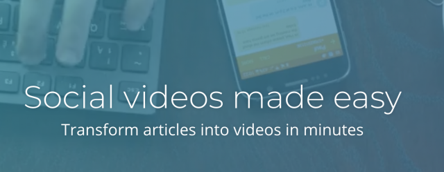 Blog Post into a Video Social videos made easy