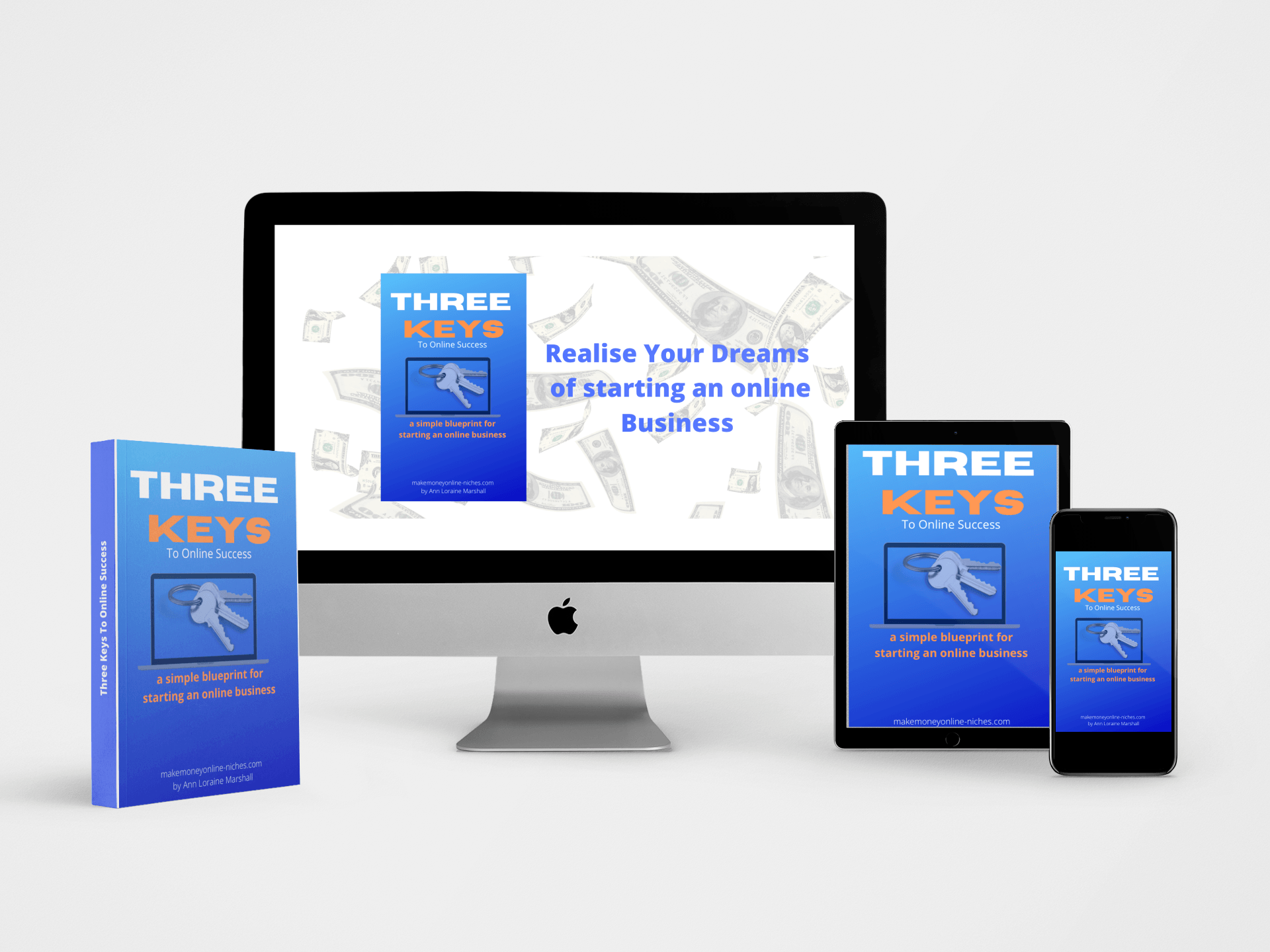 Ebook images for download of Three Keys to Online Success 2021